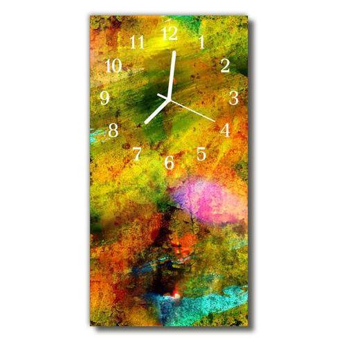Zegar Szklany Pionowy Farba malowany kolorowy, kolor wielokolorowy
