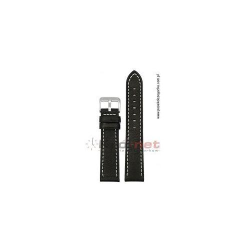 Pasek PA120/20 - czarny, przeszywany, kolor czarny