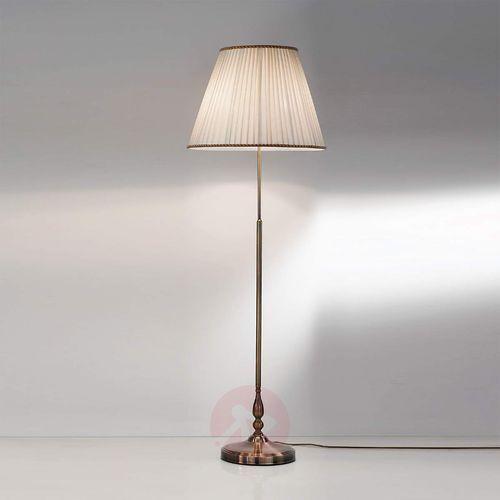 Lampa stojąca ROSELLA z plisowanym abażurem