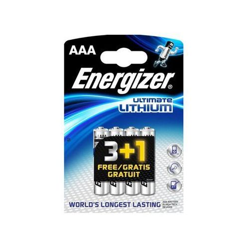 Energizer Ultimate Lithium Micro AAA 3+1 Promo Pack (7638900289817)