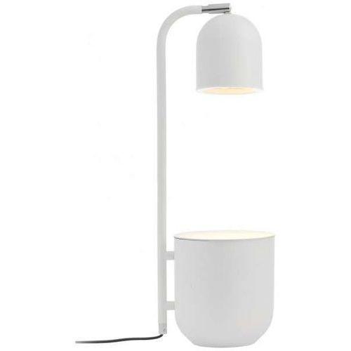 Biurkowa LAMPKA stojąca BOTANICA 40841101 Kaspa metalowa LAMPA regulowana stołowa dekoracyjna doniczka biała