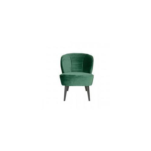 Fotel sara z aksamitu butelkowa zieleń -  marki Woood