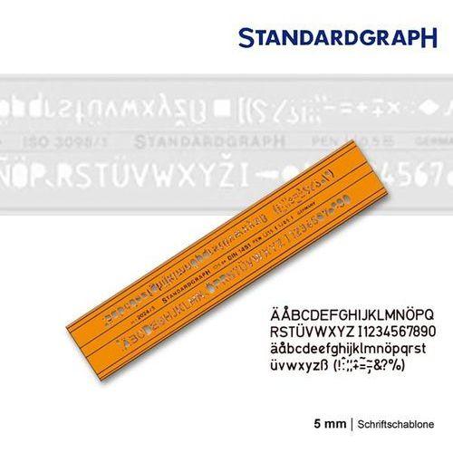 Szablon literowy H-profil prosty 5mm x1