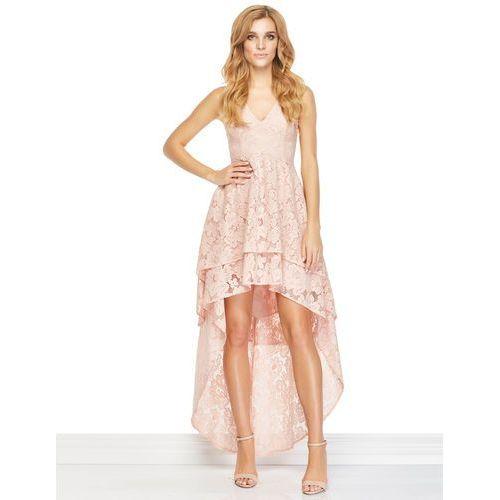 Sukienka gabrielle w kolorze łososiowym od producenta Sugarfree.pl