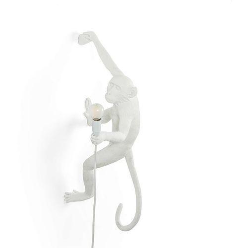 Seletti Monkey-kinkiet zewnętrzny małpa zawieszona na prawo z abażurem wys.76,5cm (3663710154219)