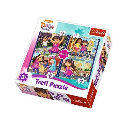 Puzzle 4w1 - Dora i przyjaciele 34265 - Trefl, 5_550701