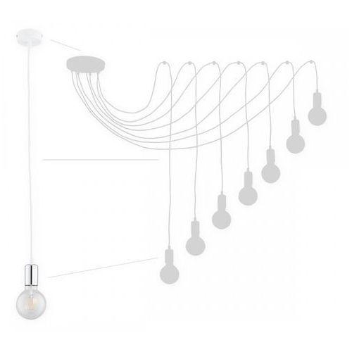 Lemir maris o2757 w7 bia + ch lampa wisząca zwis pająk 7x60w e27 biały mat / chrom (5902082868460)