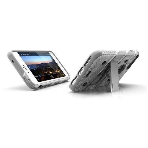 Zizo Bolt Cover - Pancerne etui iPhone 7 Plus + szkło 9H na ekran (biały/szary)