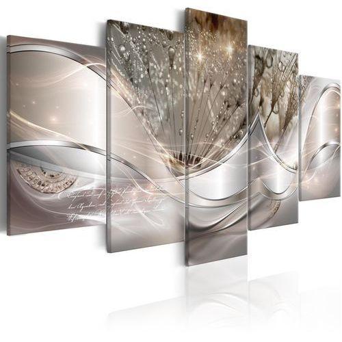 Obraz - świecące dmuchawce (5-częściowy) beżowy szeroki marki Artgeist