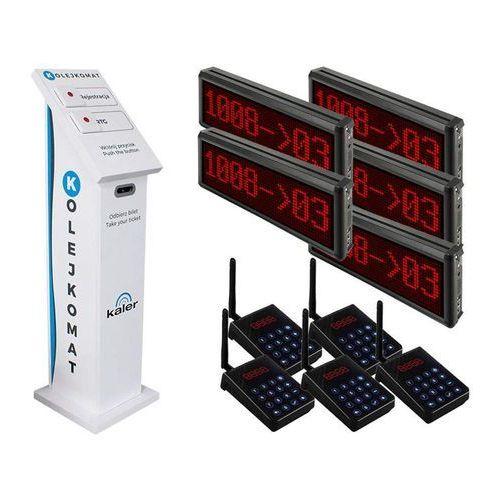 Kaler KALER System kolejkowy z biletami: Ilość stanowisk - 5 9617 - Autoryzowany partner Kaler, Automatyczne rabaty.
