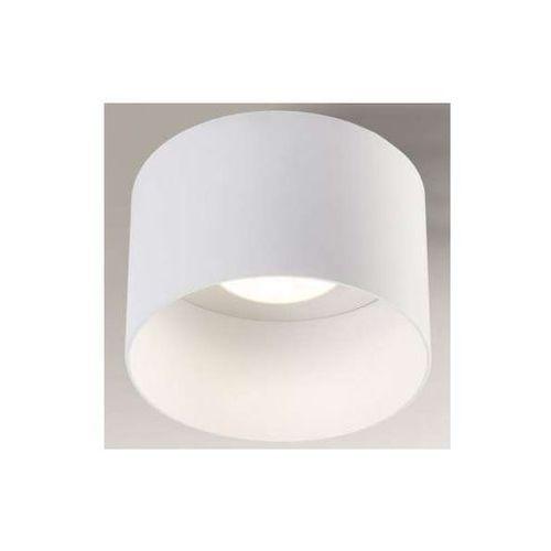 Natynkowa lampa sufitowa konan 1146/gx53/bi okrągła oprawa metalowa biała marki Shilo