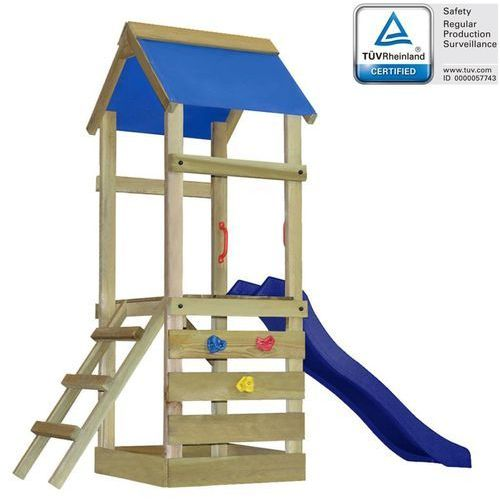 Vidaxl Plac zabaw z drabinką i zjeżdżalnią, 260x90x245, drewniany