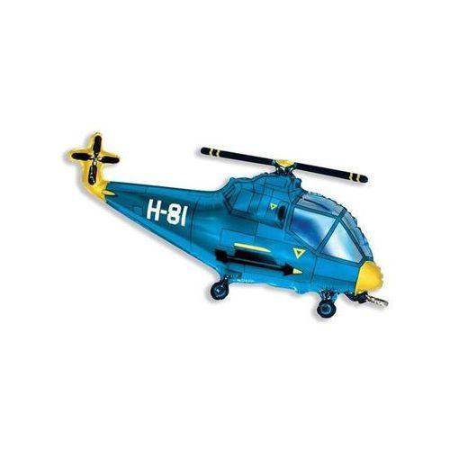 Balon foliowy do patyka helikopter niebieski - 36 cm - 1 szt. marki Flx