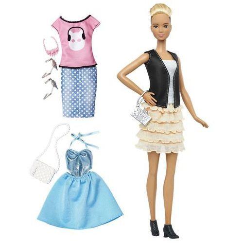 Barbie Lalka Fashionistka Leather & Ruffles DTF07