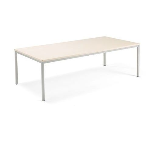 Aj produkty Stół konferencyjny modulus, 2400x1200 mm, rama 4 nogi, srebrny, brzoza