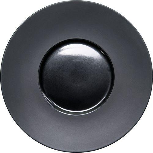 Talerz płytki gładki porcelanowy czarny marki Stalgast