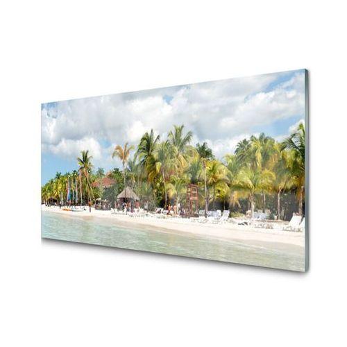 Panel kuchenny plaża palma drzewa krajobraz marki Tulup.pl