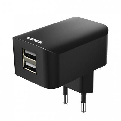 Ładowarka Hama 2x USB 3.1A Czarna (001737570000) Darmowy odbiór w 20 miastach! (4047443317087)