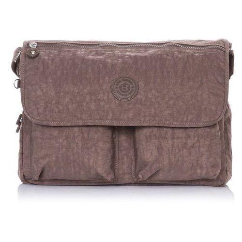 Brązowa uniwersalna torba listonoszka na ramię - brązowy marki Bag street