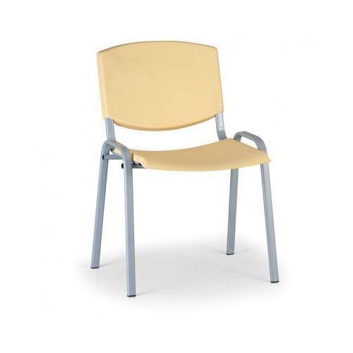 Krzesło konferencyjne Smile, żółty - kolor konstrucji szary