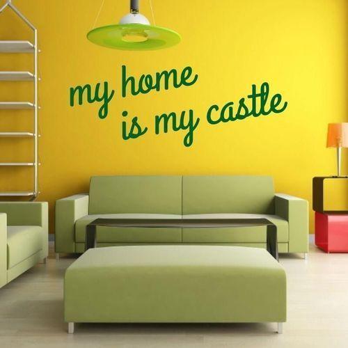 Wally - piękno dekoracji Naklejka 03x 25 my home is my castle 1721