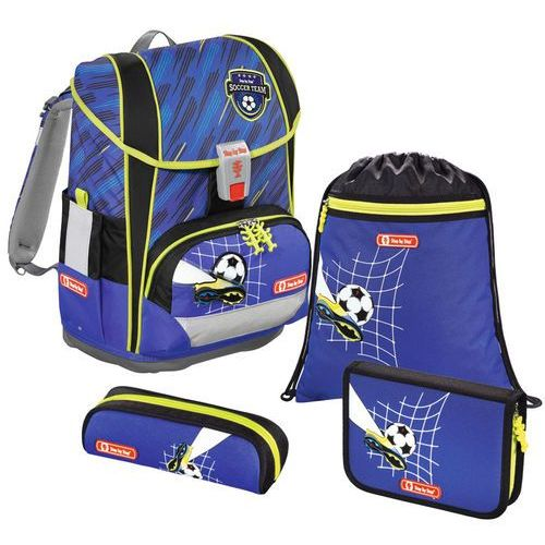 Step by step light 2 tornister szkolny zestaw 4-częściowy / soccer team - soccer team (4047443356475)