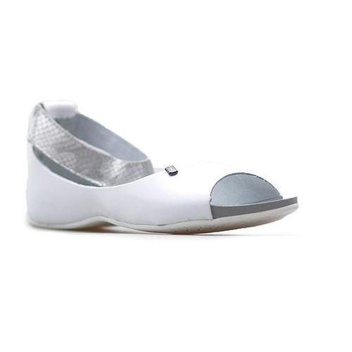 Lemar Sandały 40026 białe+ moro srebro