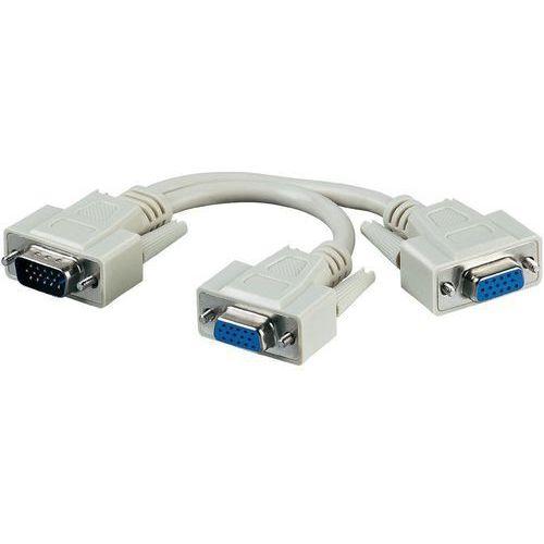 Rozdzielacz, adapter Y VGA Goobay 95138, [1x Złącze męskie VGA - 2x Złącze żeńskie VGA ] (4040849951381)