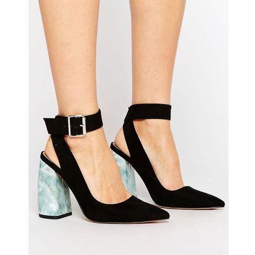 Asos pina colada pointed high heels - black