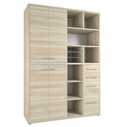 Regał biurowy set+ 216x155 cm, naturalny, mdf, 16905524 marki Maja-möbel