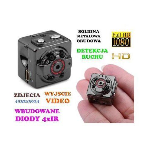 Mini-Kamera (dz-noc), Nagrywająca Obraz HD/Full HD i Dźwięk + Ap. Foto + Detekcja Ruchu + Akcesoria., 590773435814