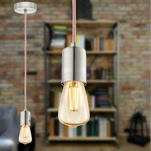 Lampa wisząca Eglo Yorth 32526 zwis 1x60W E27 nikiel mat/różowy (9002759325268)