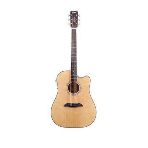 Framus fd28 n, nashville dreadnought, cutaway, eq, vintage transparent high polish natural tinted gitara elektroakustyczna
