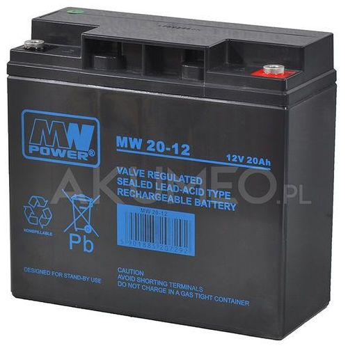 Akumulator AGM MW Power MW 20-12 VRLA 12V 20Ah