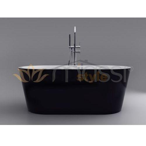 Wanna wolnostojąca  thermo black 160cm (mswa-812160b) marki Massi