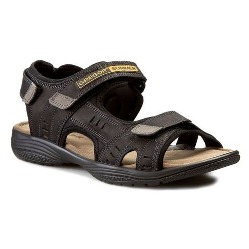 Sandały GREGOR - 01192-ME-C10 Czarny, kolor czarny