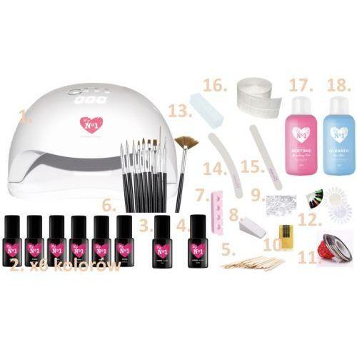 Zestaw do manicure hybrydowego z lampą sun 54w + 114 gratisów marki My no1