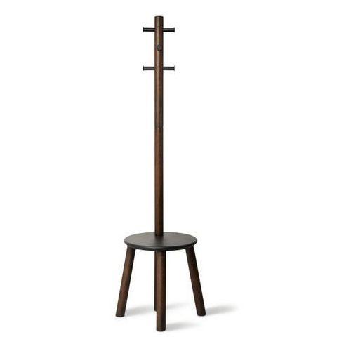 Umbra - Stojak na ubrania Pillar - czarny/orzech włoski