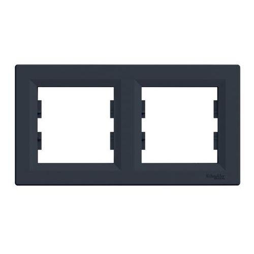 Ramka podwójna asfora pozioma antracyt marki Schneider electric