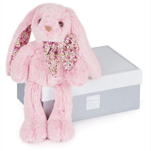 Różowy królik PM 25cm - Les Copains Câlins (3700349324344)