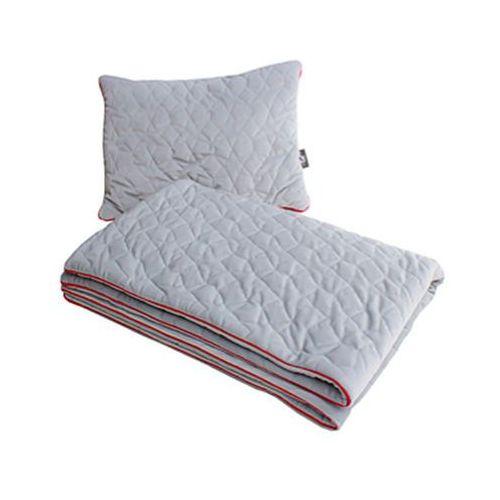 kocyk velvet pikowane gwiazdki dwustronnie siwy z poduszką 80cm x 100cm marki Pulp