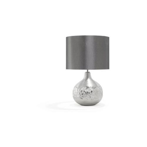 Beliani Lampka nocna porcelanowa srebrna yakima