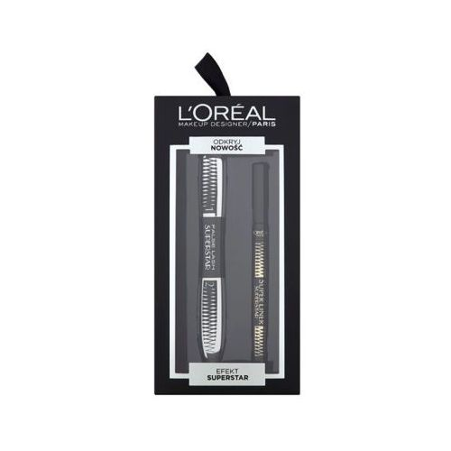 Loreal paris efekt superstar zestaw kosmetyków dla kobiet (maskara + liner) marki L'oréal paris