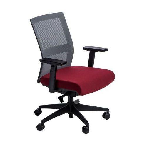 Maduu studio Fotel biurowy press szary/czerwony (5902385728638)