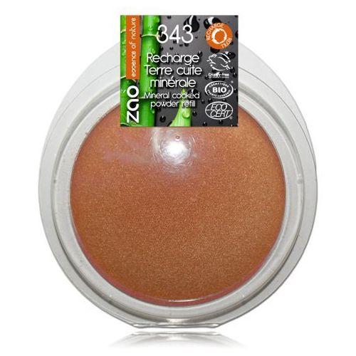 Zao - make up organic Puder brązujący zao - wkład - 343 - złocony brąz