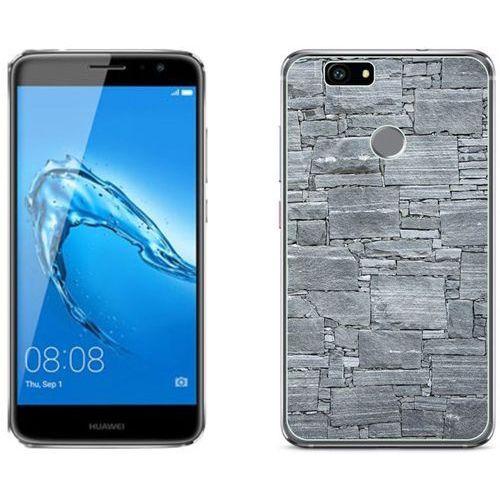 Huawei Nova - etui na telefon - Kolekcja kamień - jasno szary kamień - D21 - Jasno szary kamień