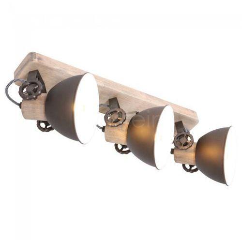 Steinhauer gearwood lampa sufitowa antracytowy, 3-punktowe - - obszar wewnętrzny - gearwood - czas dostawy: od 3-6 dni roboczych (8712746129243)