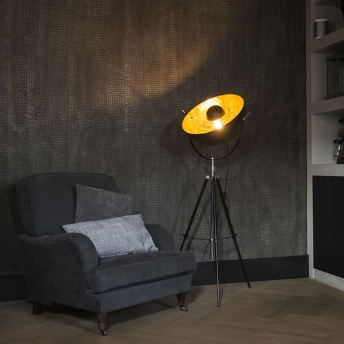 Qazqa Lampa podlogowa magna matowy czarny