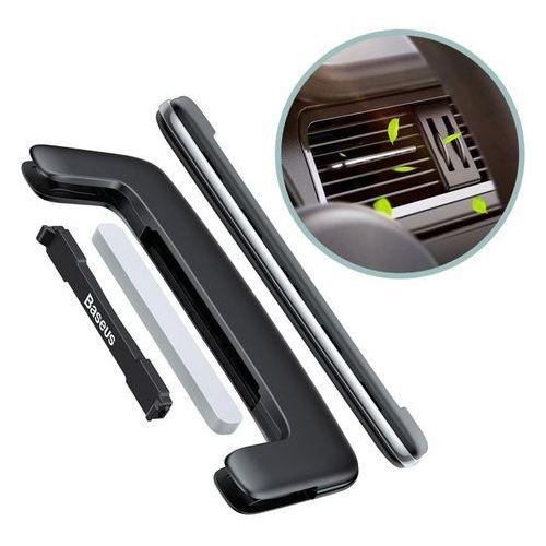 Baseus Paddle ultracienki odświeżacz powietrza zapach samochodowy na kratkę wentylacyjną nawiew srebrny (SUXUN-BP0S), 48980 (11837086)