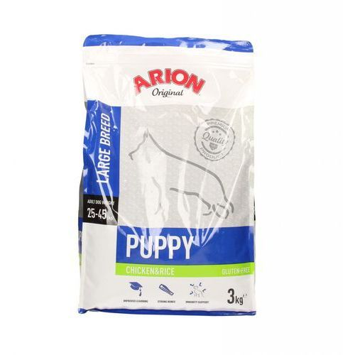 Arion original puppy large breed chicken & rice 3kg - 3000 (5414970055123)